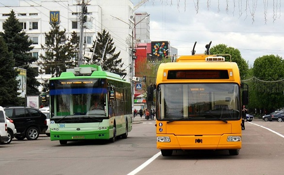 У Черкасах тролейбуси одного з маршрутів тимчасово змінили напрямок руху