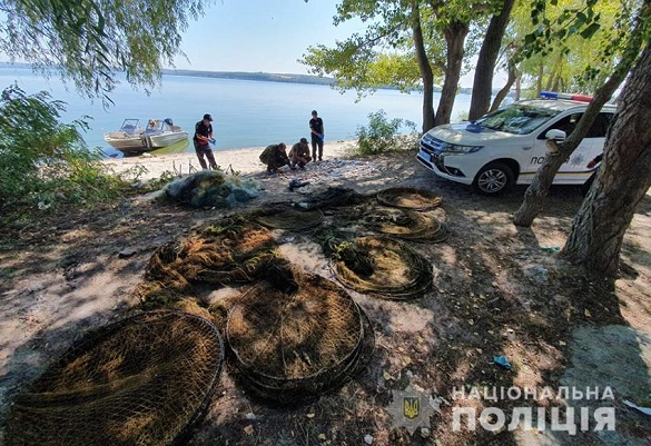 На Черкащині виявили браконьєрські сітки (ФОТО)