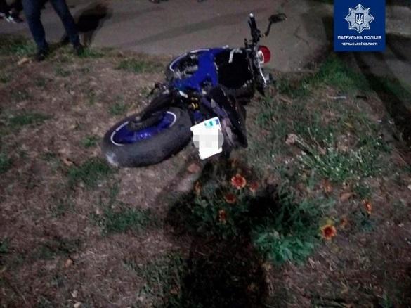 У Черкасах мотоцикліст спричинив ДТП