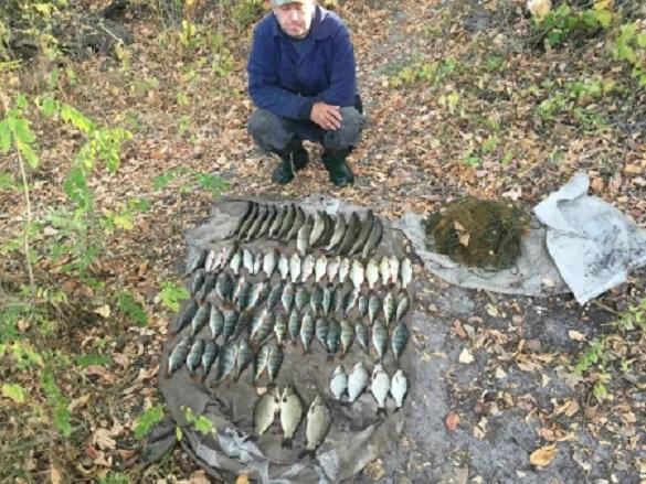 На Черкащині браконьєр наловив риби на понад 6 тисяч гривень