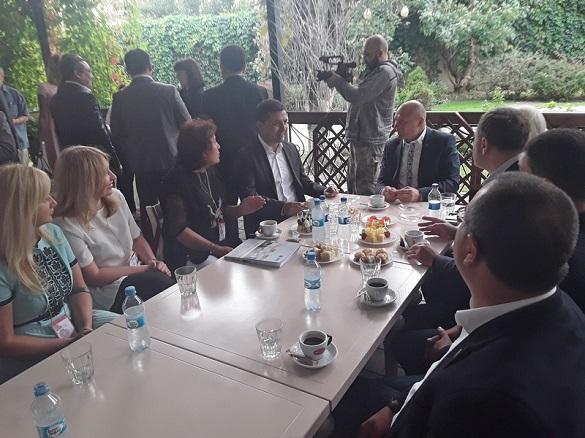 Бондаренко зустрівся з делегаціями з міст-побратимів Черкас