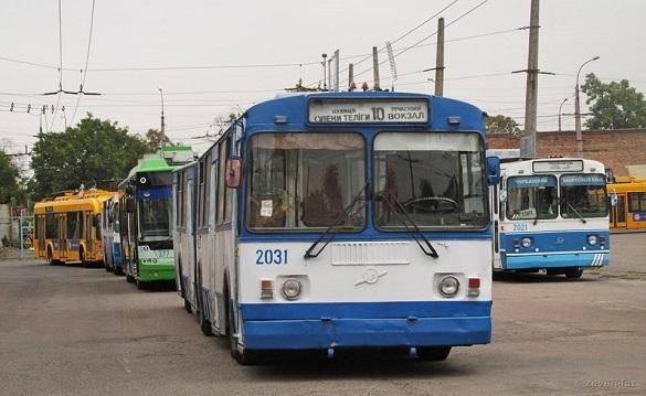 Тролейбуси №10 у Черкасах сьогодні курсують за зміненою схемою