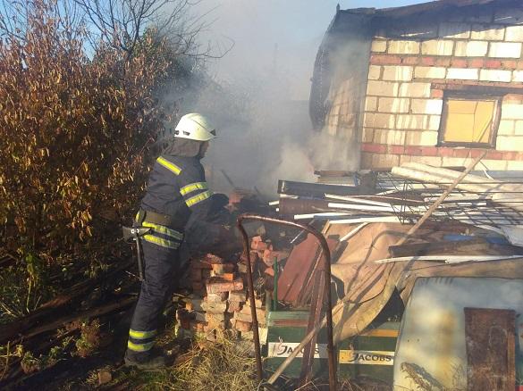 На Черкащині сталася пожежа через необережне поводження з вогнем