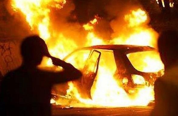 На Черкащині умисно підпалили автомобіль (ВІДЕО)