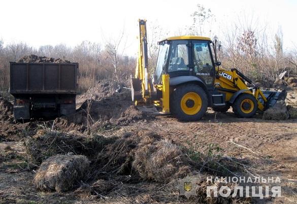 Невідомі вивозили вантажівками чорнозем на Чигиринщині (ФОТО)