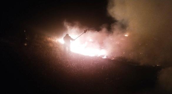 На Черкащині вихідними горіла стерня кукурудзи