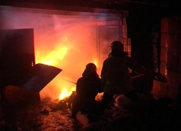 Через коротке замикання електромережі на Черкащині загорівся гараж