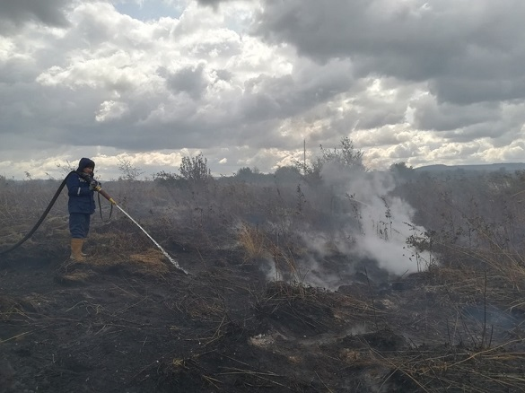 Три села на Черкащині потерпають від горіння торфовищ (ВІДЕО)