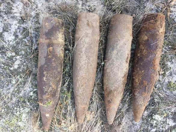 На Черкащині виявили шість артелерійських снарядів