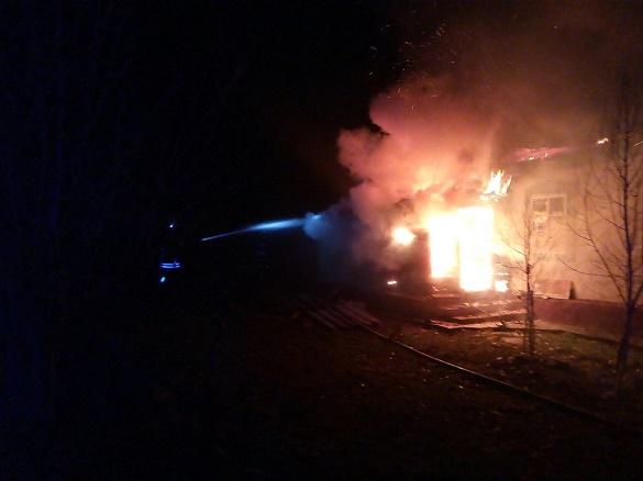 У селі на Черкащині загорівся житловий будинок (ФОТО)