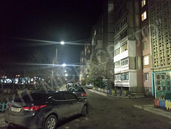 Одна з вулиць в Черкасах засвітилася світодіодними світильниками