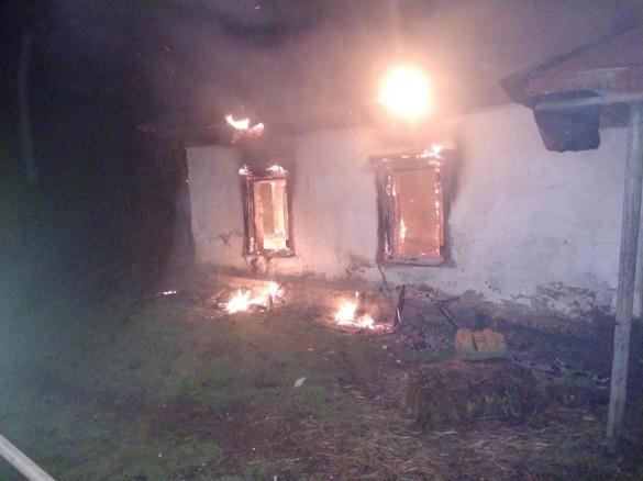 Пожежа на Черкащині охопила житловий будинок (ФОТО)