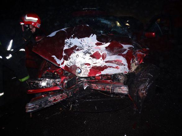 На Черкащині автомобіль зіткнувся з вантажівкою