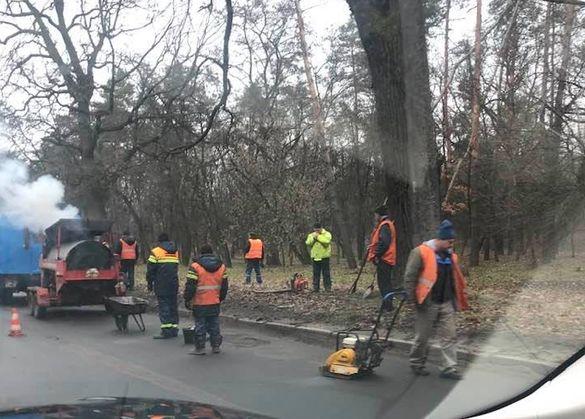 У Черкасах взимку ремонтують дороги