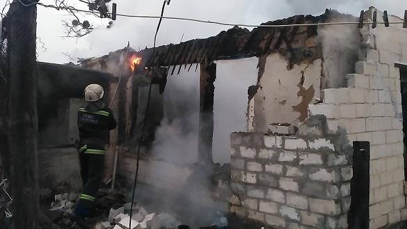 У пожежі на Черкащині загинув чоловік (ВІДЕО)