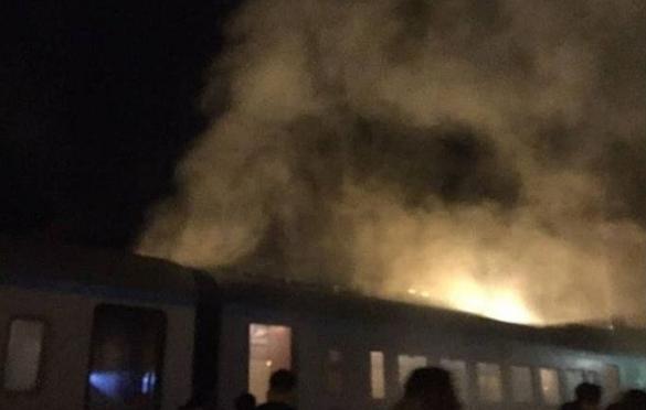 На Черкащині під час руху загорівся дизель-потяг