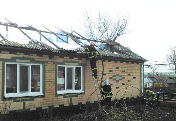 Через несправне пічне опалення на Черкащині сталося дві пожежі (ФОТО)