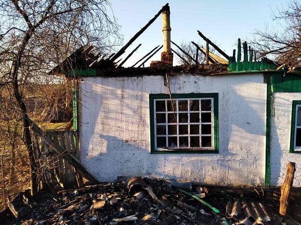 Надвірна споруда горіла у селі на Черкащині (ФОТО)