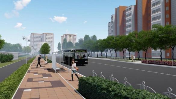 Як виглядатиме вулиця Героїв Дніпра у Черкасах після озеленення (ФОТО)