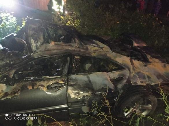 Внаслідок ДТП на Черкащині загорівся автомобіль (ФОТО)