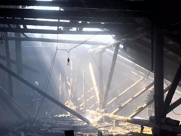 На Черкащині сталася масштабна пожежа