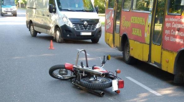 Внаслідок ДТП у Черкасах постраждало два мотоциклісти