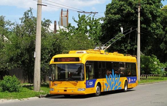 Два тролейбуси тимчасово змінять свій рух у Черкасах