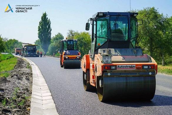 На Черкащині продовжують ремонтувати ще одну дорогу державного значення (ФОТО)