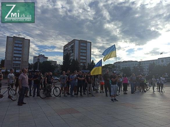 Вільний вибір: у Черкасах відбулася акція на підтримку білорусів (ФОТО)